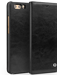 cheap -Case For Huawei Honor V9 Play Honor V9 Card Holder Shockproof Flip Full Body Cases Solid Color Hard Genuine Leather for Honor 9