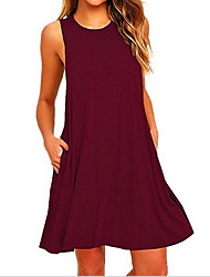 cheap -Women's Vintage Bodycon Dress - Solid Colored Basic / Summer