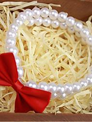 Недорогие -Коты Ожерелье Одежда для собак Однотонный Белый Другие материалы Костюм Для домашних животных Стиль Бант