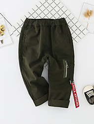 cheap -Baby Unisex Daily Solid Pants, Cotton Spring Summer Cute Active Red Army Green