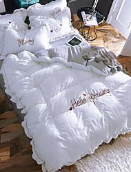 abordables -Ensembles housse de couette Cœur Moderne 4 Pièces Polyester/Coton 100% Coton Imprimé Polyester/Coton 100% Coton 1 x Housse de couette 2 x