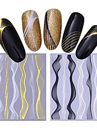 Недорогие -4 pcs Наклейки и ленты / Наклейка для фольги / Наклейка для ногтей Наклейки для ногтей Инструмент для ногтей