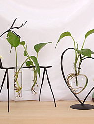 cheap -Daily Wrought Iron Glass Wedding Decorations Family All Seasons
