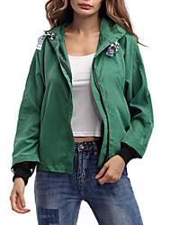 cheap -Women's Active Street chic Jacket-Solid Colored,Oversized