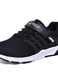 baratos -Para Meninos Sapatos Couro Ecológico Tule Outono Conforto Tênis Caminhada Corrida para Atlético Ao ar livre Preto Laranja Vermelho