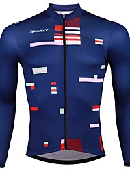 cheap -SPAKCT Men's Long Sleeve Cycling Jersey - Dark Blue Bike Jersey, Quick Dry / Expert / YKK Zipper / Italy Imported Ink / Breathable Armpits