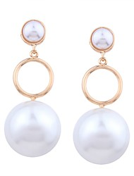 cheap -Women's Pearl Long Drop Earrings - Imitation Pearl, Gold Plated Ball Sweet, Fashion Gold For Party / Date