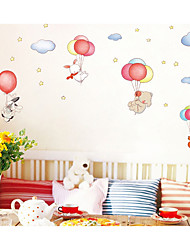 abordables -Abstrait Stickers muraux Autocollants avion Autocollants muraux animaux Autocollants muraux décoratifs, Papier Décoration d'intérieur