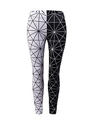 cheap -Women's Basic Sporty Legging - Print, Color Block Mid Waist