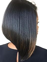 Недорогие -Натуральные волосы Лента спереди Парик Малазийские волосы Прямой Парик 180% Плотность волос Жен. Парики из натуральных волос на кружевной основе SunnyQueen / Прямой силуэт