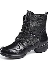 economico -Per donna Stivaletti da danza Nappa Mezzepunte Basso Personalizzabile Scarpe da ballo Nero