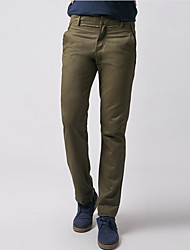cheap -Men's Plus Size Cotton / Linen Chinos Pants - Solid Colored Pleated