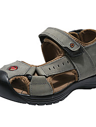 cheap -Boys' Shoes Cowhide Summer Comfort Sandals for Casual Outdoor Gray Brown