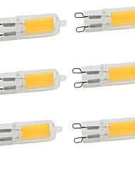 Недорогие -6шт 2W 350-380lm G9 Двухштырьковые LED лампы 1 Светодиодные бусины COB Тёплый белый Холодный белый 220-240V