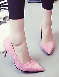 cheap -Women's Shoes PU Spring Summer Flats Flat Heel Pointed Toe for Casual Black Gray Blue Pink