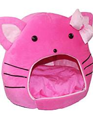 Недорогие -Коты Кровати Животные Коврики и подушки Однотонный Мультипликация Компактность Складной Розовый Для домашних животных