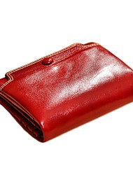 cheap -Unisex Bags Cowhide Wallet Buttons for Formal / Office & Career Fuchsia / Wine / Royal Blue