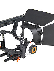 cheap -YELANGU Popular DSLR Camera Cage Shoulder Mount Rig Kit C500 Contain Follow Focus Matte Box Support Universal Cameras