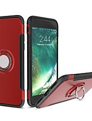 abordables -Coque Pour Apple iPhone X iPhone 8 Antichoc Anneau de Maintien Coque Armure Flexible Silicone pour iPhone X iPhone 8 Plus iPhone 8 iPhone
