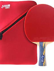 Недорогие -DHS® E506 Ping Pang/Настольный теннис Ракетки Дерево Ластик 5 Звезд Длинная рукоятка Прыщи
