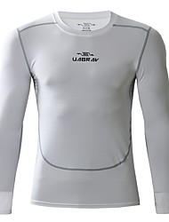 cheap -Men's Running T-Shirt Long Sleeve Breathability T-shirt for Exercise & Fitness Polyester White / Black / Grey L / XL / XXL