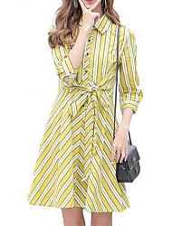 cheap -Women's Street chic A Line Dress - Striped