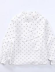 cheap -Kids Girls' Simple Polka Dot / Print Lace Long Sleeve Cotton Shirt / Cute