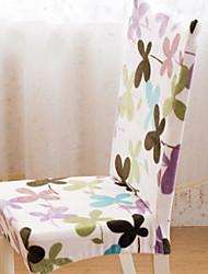 preiswerte -Moderne 100% Polyester Jacquard Stuhlabdeckung, Einfache Pflanzen Bedruckt Überzüge