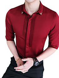 preiswerte -Herrn Solide Blumen - Retro Street Schick Hemd