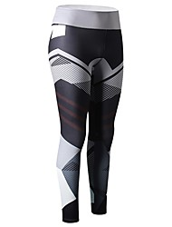 cheap -Women's Running Tights - Rose Red, Blue, Grey Sports Print, Other Pants / Trousers / Leggings Exercise & Fitness Activewear Breathability Stretchy