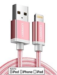 abordables -Eclairage Adaptateur de câble USB Charge rapide Haut débit Tressé Câble Pour iPhone 150 cm Nylon