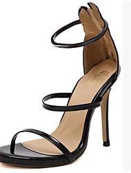 preiswerte -Damen Schuhe PU Frühling Sommer Pumps Komfort Sandalen Stöckelabsatz für Gold Schwarz Silber