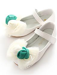 baratos -Para Meninas Sapatos Courino Primavera Verão Sapatos para Daminhas de Honra Bailarina Rasos Laço Velcro Flor para Casamento Festas & Noite