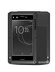 baratos -Capinha Para Sony Xperia XZ Premium Água / Dirt / à prova de choque Capa Proteção Completa Côr Sólida Rígida Metal para Sony Xperia XZ