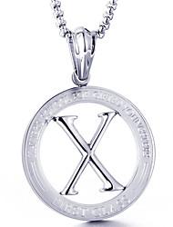 Недорогие -Муж. Ожерелья с подвесками - Мода Серебряный Ожерелье Назначение Повседневные, Для улицы