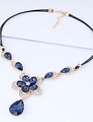 Недорогие -Жен. Ожерелья с подвесками  -  Цветы европейский, Мода Темно-синий Ожерелье Назначение Для вечеринок