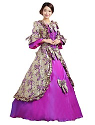 abordables -Conte de Fée Renaissance Années 20 Costume Femme Robes Costume Bal Masqué Costume de Soirée Tenue Violet Vintage Cosplay Polyester Sans