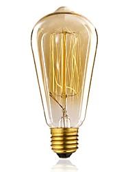 cheap -1pc 40W E27 E26/E27 ST64 Warm White 2300 K Incandescent Vintage Edison Light Bulb 110-130V 220-240V V