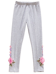 cheap -Girls' Daily Solid Pants, Cotton Winter Simple Active Blushing Pink Navy Blue Gray Purple Light Blue
