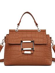 cheap -Women's Bags PU Tote Embossed Gray / Purple / Brown