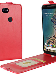 Недорогие -Кейс для Назначение Google Pixel 2 XL / Pixel 2 Бумажник для карт / Флип Чехол Однотонный Твердый Кожа PU для Pixel 2 / Pixel 2 XL