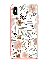 billiga -fodral Till Apple iPhone X iPhone 8 Plus Mönster Skal Blomma Mjukt TPU för iPhone X iPhone 8 Plus iPhone 8 iPhone 7 Plus iPhone 7 iPhone