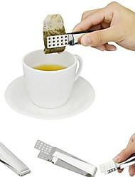 baratos -Saco de chá de aço inoxidável clipe titular espremedor de saquinho de chá resistente ao calor mini tong food ferramentas da cozinha