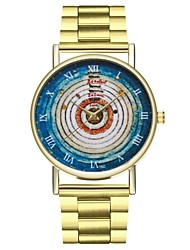 cheap -Women's Chronograph Large Dial Stainless Steel Band Analog Vintage Colorful Gold - Gold One Year Battery Life / SSUO LR626
