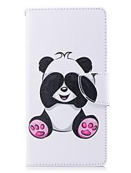 baratos -Capinha Para Sony Xperia L2 Xperia XA2 Ultra Porta-Cartão Carteira Com Suporte Flip Estampada Capa Proteção Completa Panda Rígida PU
