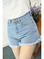 Недорогие -женщины нормальные среднего роста микро-эластичные шорты брюки, марочные твердых хлопка бамбука волокна весной