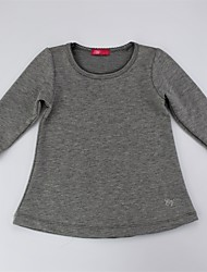 cheap -Girls' Daily Solid Blouse, Cotton Spring Fall Long Sleeves Simple Casual Blushing Pink Gray