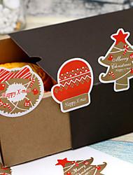 baratos -Férias Etiquetas, Etiquetas e tags - 12 Natal Irregular Autocolantes Todas as Estações
