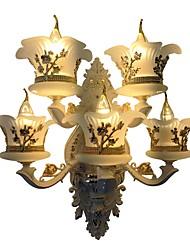 baratos -ZHISHU Estilo Mini Simples / Tradicional / Clássico Luminárias de parede Sala de Estar / Quarto / Sala de Jantar Metal Luz de parede