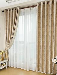 abordables -Jacquard Chambre à coucher Occultant Mélange de polyester metal Occultant